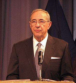 Mario Cuomo giving a speech
