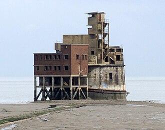 Grain Tower - Grain Tower at low tide