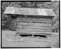 Granary, east elevation - Trump-Lilly Farm, Hinton, Summers County, WV HABS WVA,45-HINT.V,1-27.tif