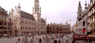 Grand Place - Grand Place, with the Brussels Town Hall on the left