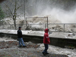 Stillaguamish River (South Fork) flood at Gran...