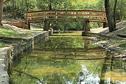 Grapevine springs park channel and bridge.jpg