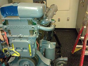 Gray Marine 6-71 Diesel Engine - The 6-71 Gray Marine Diesel Engine Training Engine aboard the Training Ship ''Golden Bear''