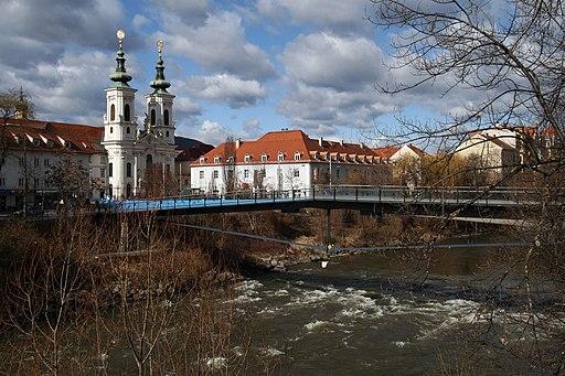 Graz Mursteg Mariahilferkirche 2012