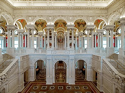 Great Hall, Library of Congress, Thomas Jefferson Building, Washington, D.C.