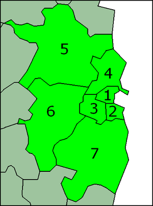 Greater Dublin Area - Numbered map of the Greater Dublin Area