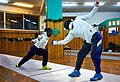 Greek Epee Fencers. Fencing at Athenaikos Fencing Club. On the left Agapitos Papadimitriou. On the right Ilias Konstantinidis.jpg