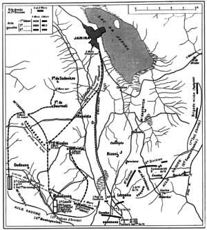 Order of battle of the Hellenic Army in the First Balkan War - Plan of the Greek flanking move that led to the fall of Ioannina.