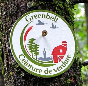 Greenbelt (Ottawa) - Trail marker