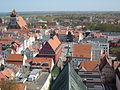 Greifswald Markt vom-Turm-des-Doms-St.-Nikolai-aus-gesehen April-2009 SL272405.JPG