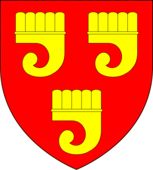 Earl of Bath - Arms of Granville, Earls of Bath: Gules, three clarions or