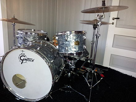 Collins has used Gretsch drums since 1983. Gretsch drums.jpg