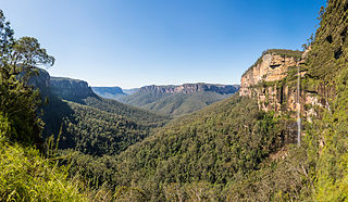 Grose Valley valley in the Blue Mountains, New South Wales, Australia