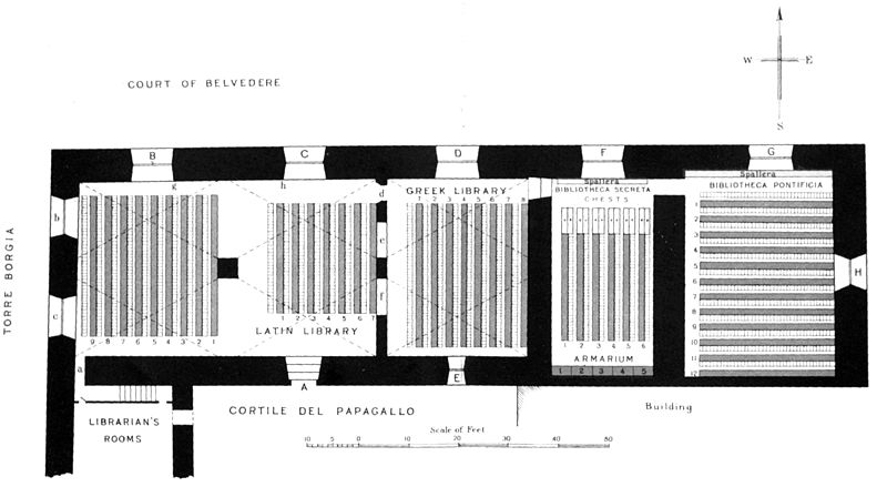 Ground-plan of the rooms in the Vatican Palace fitted up for library-purposes by Sixtus IV.