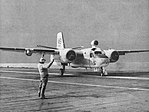 Grumman S2F-1 Tracker of VS-30 aboard USS Wasp (CVS-18), circa in September 1957.jpg