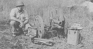 Type 92 battalion gun - Type 92 battalion gun captured on Guadacanal