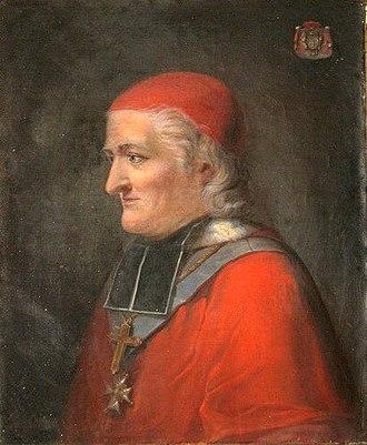 César Guillaume de La Luzerne - Portrait du cardinal de La Luzerne, B. Guidel, École française, XVIIIe siècle, chapelle du couvent des Annonciades de Langres