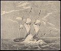 H.M.S. Barham On her passage to the Mediterranean with Sir Walter Scott on Sunday 6th Novbr 1831. Latde 48o 8' Noth Longde 5o 50' Wet (title cut off) RMG PY0778.jpg