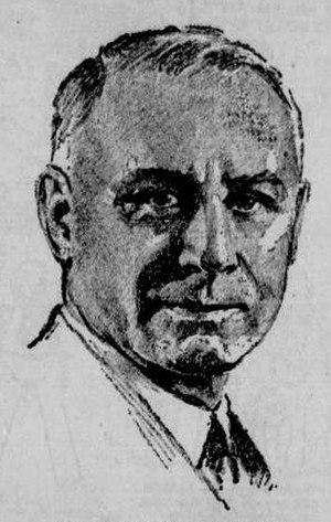 Herman G. Kump - Kump as depicted in the Bluefield Daily Telegraph (Bluefield, WV), July 26, 1936.