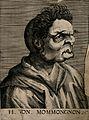 H. von Mommongnon, a character with a grotesque face. Line e Wellcome V0007458ER.jpg