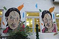 HK 上環 Sheung Wan 太平山街 Tai Ping Shan Street 水巷 Water Lane back Graffit wall painting old woman face April 2018 IX2 03.jpg
