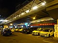 HK 屯門 Tuen Mun night 屯門鄉事會路 Heung Sze Wui Road Luk Yuen Street footbridge outdoor carpark July 2016 DSC.jpg