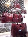 HK Central nigt Queen's Road 8 Ice House Street shop handbags LongChamp Oct-2012.jpg