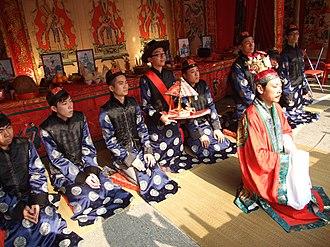 Taoist schools - Taoist ritual in Fanling Wai.