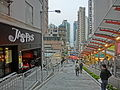 HK SYP Centre Street evening sidewalk shop JASPAS restaurant Mar-2014 ZR2 Escalators.JPG