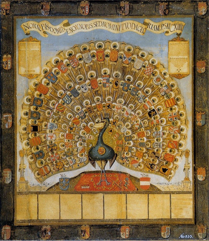 Habsburger Pfau 1555