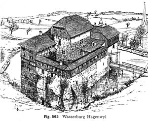 Otto Piper - Hagenwil Castle, drawing by Otto Piper