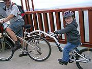 A half wheeler bicycle at the Golden Gate Bridge