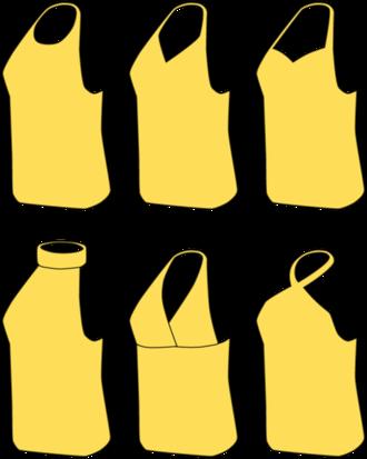 Halterneck - Various styles of halterneck attire.
