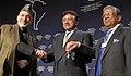 Hamid Karzai, Pervez Musharraf, Fakhruddin Ahmed - WEF Annual Meeting Davos 2008.jpg