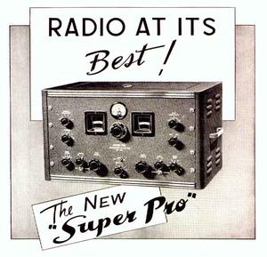 Hammarlund Super Pro - 1939 ad for the SP-200 Super Pro