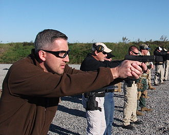 Shooters take part in firearms training held at the U.S. Training Center in Moyock, North Carolina. Handgun training in North Carolina.jpg