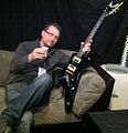Hanging in the Dean VIP Room, NAMM 2011.jpg