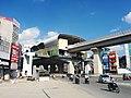 Hanoi metro station under construction near major crossroad.jpg