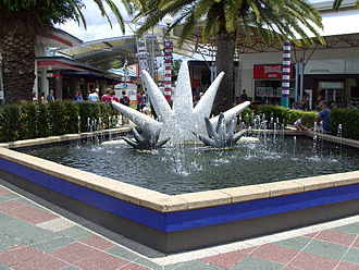 Harbour Town - Fountain at Harbour Town Gold Coast, with symbol of facility