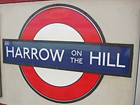 Harrow-on-the-Hill stn roundel.JPG