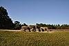 foto van Terrein met de hunebedden D53 en D54, grafheuvels en een bron