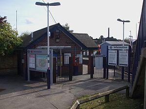 Haydons Road railway station - Image: Haydons Road stn north entrance