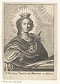 Heilige Ursula S. Ursula Virgo et Martyr (titel op object) Heilige maagden (serietitel), RP-P-OB-207.930.jpg