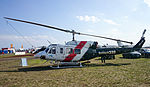 Heli-Serv (VH-JJR) Bell 212 Twin Huey on display at the 2015 Australian International Airshow.jpg