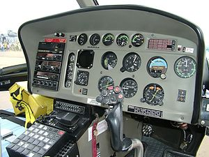 Eurocopter AS350 Écureuil - Cockpit of an AS350 B2, 2006