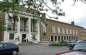 County Hall, Hertford - A view of Hertford County Hall frontage.