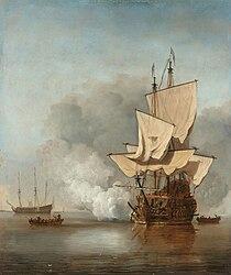 Willem van de Velde the Younger: The Cannon Shot