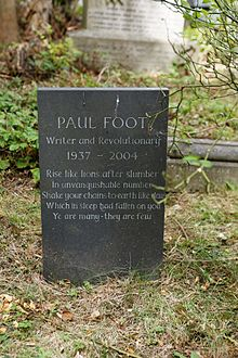 Highgate Cemetery - East - Paul Foot 01.jpg