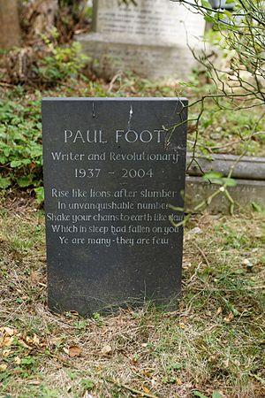 Paul Foot - Foot's gravestone in Highgate Cemetery (2007)