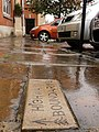 Highway Boundary Stone in the Market Place outside the old fire Station - geograph.org.uk - 1525106.jpg